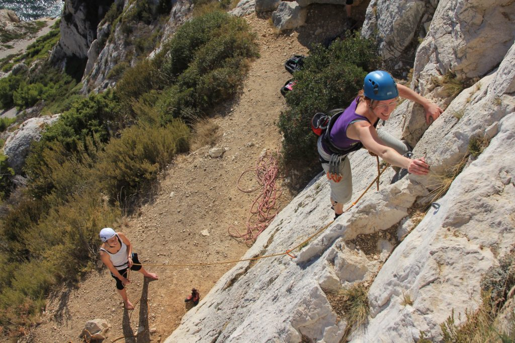 climbing in the Calanques, Provence, Southern France